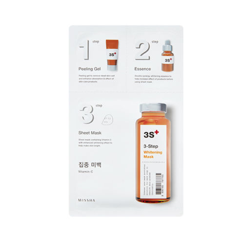 MISSHA 3-Step Sheet Mask (Ceramide) 15g+22g+1.5g / All in one Mask pack New