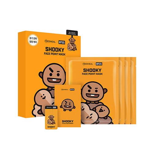 Mediheal,bt21 shooky face point mask