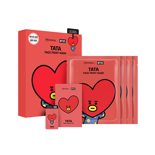 Mediheal,bt21 tata face point mask