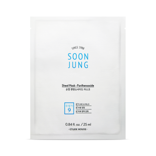 etude house,soon jung panthensoside sheet mask