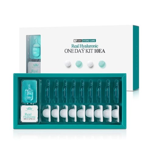 wellage,real hyaluronic bio capsule blue solution set