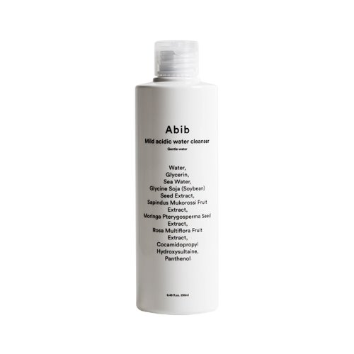abib,mild acidic water cleanser gentle water