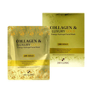 3WCLINIC,Collagen & Luxury Gold Energy Hydrogel Facial Mask