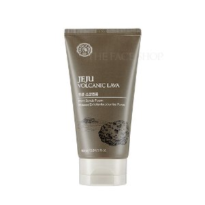the face shop,jeju volcanic lava pore scrub foam