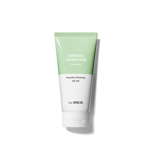 the saem,natural condition scrub foam,deep pore cleansing