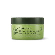 innisfree,5 minute green tea leaf powder face mask