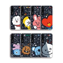 bt21,press me graphic light up phone case